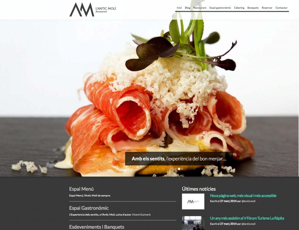 Nova web e imatge de l'Antic Molí
