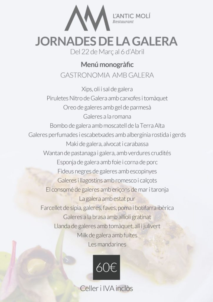 Menú monogràfic Gastronomia amb Galera