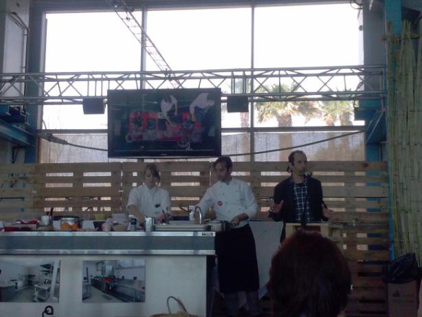 Isma Prados i Pep Palau a la demostració gastronòmica