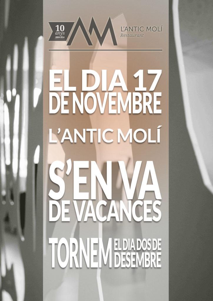 Vacances del 17 de novembra al 2 de desembre