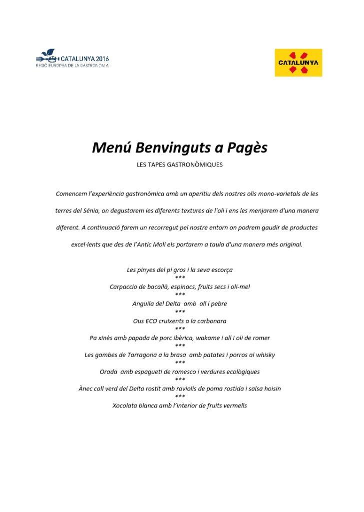 menu benvinguts a pages