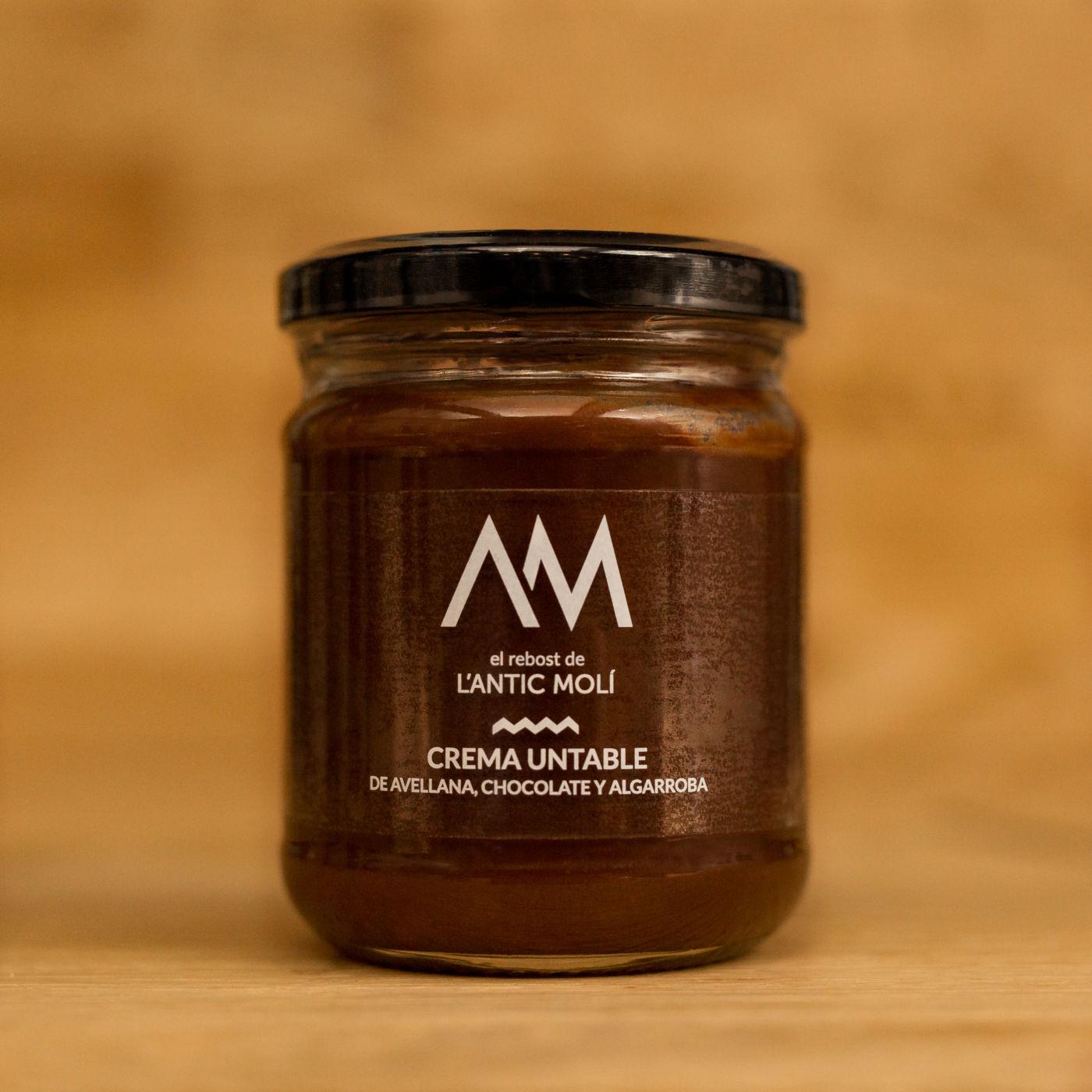 crema untable de avellana-chocolate y algarroba-rebost antic moli