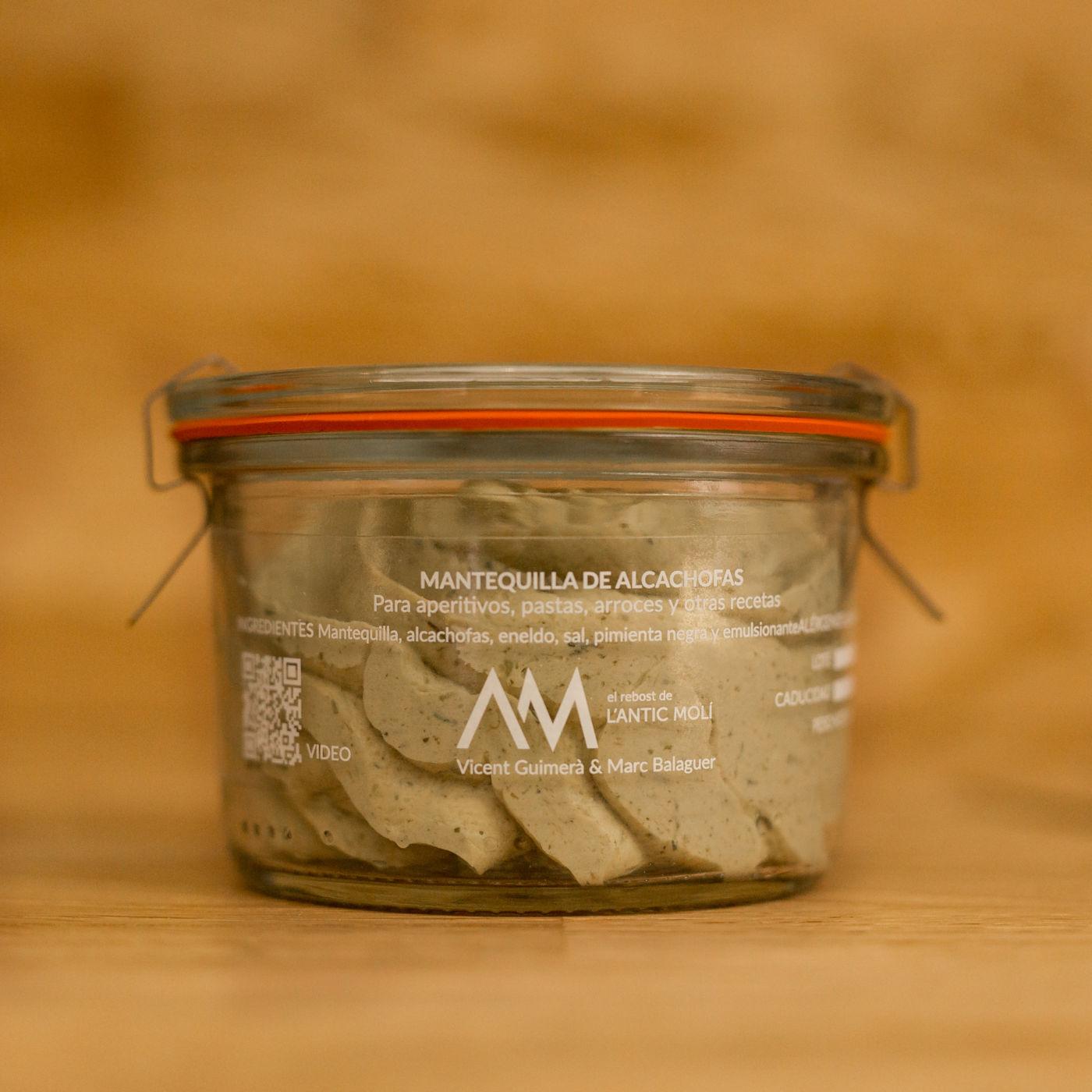 mantequilla de alcachofas-rebost antic moli